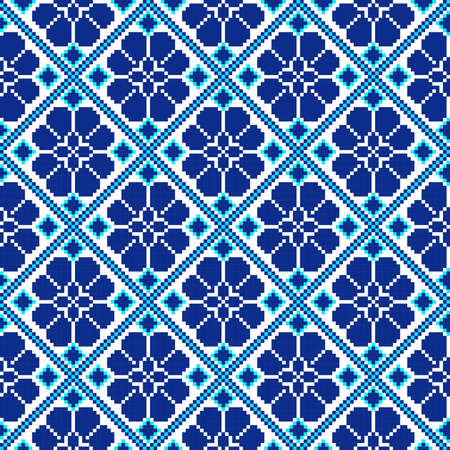 rushnik: Vector illustration of ukrainian seamless pattern ornament