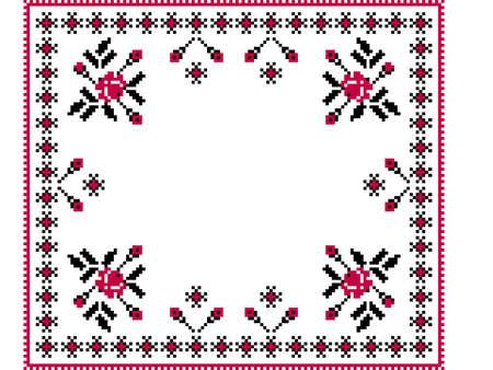 cross stitch: Ilustraci�n vectorial de ornamento ucraniano patr�n nacional Vectores