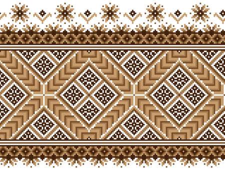 Vector illustratie van de Oekraïense nationale patroon ornament