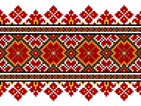 serviette: Vector illustration of ukrainian national pattern ornament
