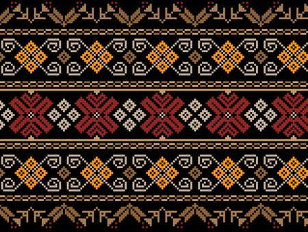 Vector illustratie van Oekraïense naadloze patroon ornament Vector Illustratie