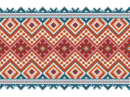 Vector illustration of ukrainian seamless pattern ornament Vector