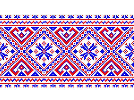 handiwork: Ilustraci�n vectorial de ornamento ucraniano patr�n transparente Vectores