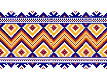 servilleta de papel: Ilustración vectorial de ornamento ucraniano patrón transparente Vectores