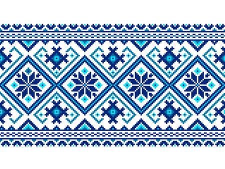 lavoro manuale: Illustrazione vettoriale di ornamento senza soluzione di continuit� ucraino
