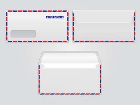 par: Vector mail envelope par avion