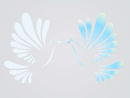 faith hope love: Vector doves