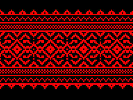 lappet: Vector illustration of ukrainian seamless pattern ornament