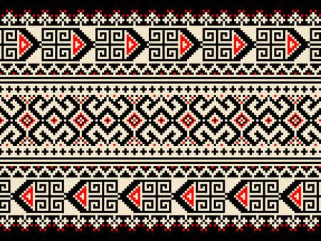 eastern europe: Vector illustration of ukrainian seamless pattern ornament