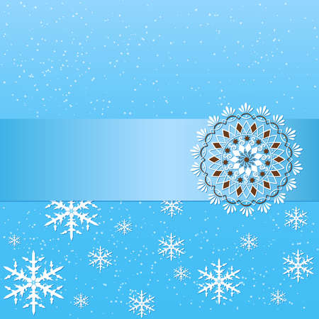 Vector winter background with floral elements Stock Vector - 16811966