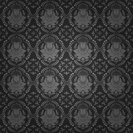 Vector damask seamless pattern background Illustration