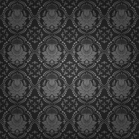 Vector damask seamless pattern background Vettoriali
