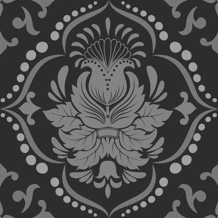 tessile: Vector damasco elemento senza soluzione di modello