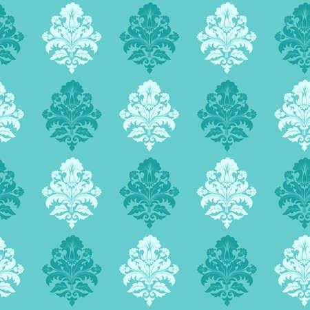 damast: Vector Damast nahtlose Muster Hintergrund