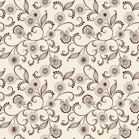 Vector flower pattern background Illustration