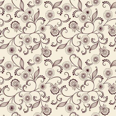 Vector flower pattern background Vettoriali