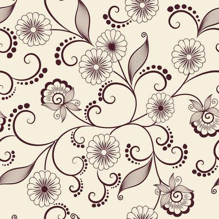 Vector flower pattern element
