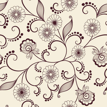 Vector flower pattern element Vector