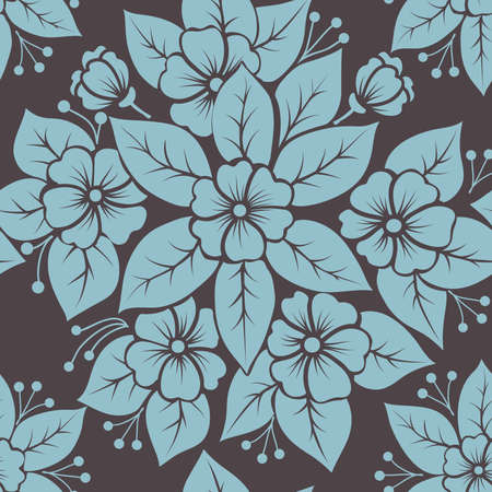 Vector flower seamless pattern element Stock Vector - 16811861