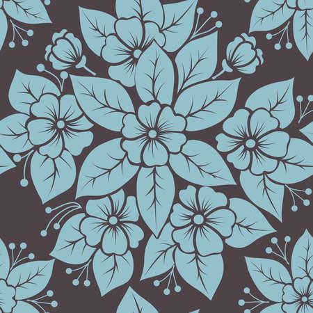 Vector flower seamless pattern element Stock Vector - 16811861