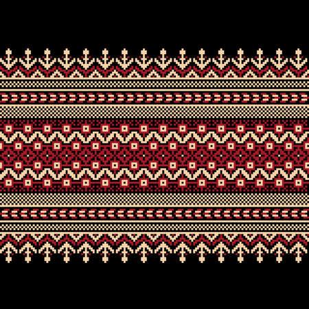 Illustrazione vettoriale di ornamento seamless ucraino