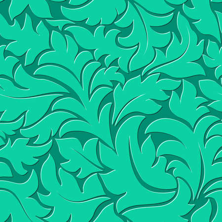 ultramarine: Vector flower ultramarine green seamless pattern element