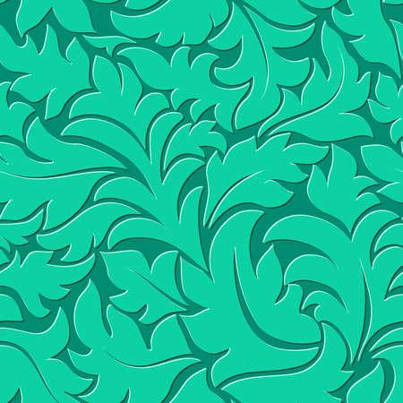 Vector flower ultramarine green seamless pattern element