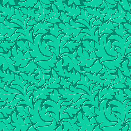Vector flower ultramarine green seamless pattern background Vector