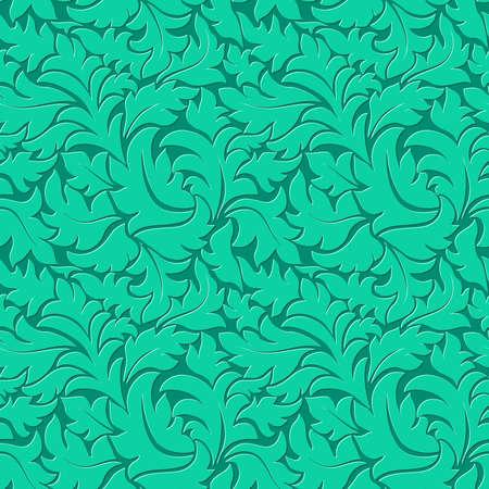 Vector flower ultramarine green seamless pattern background