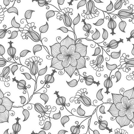 Vector flower seamless pattern element Stock Vector - 16811957
