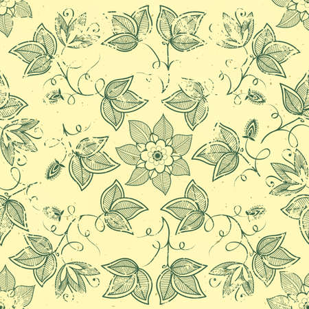 vintage floral seamless pattern element   Stock Vector - 17007623