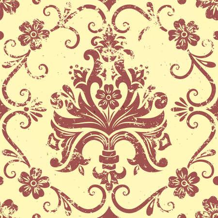 vintage damask seamless pattern element