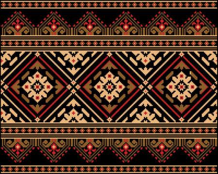 cross stitch: Ilustraci�n del vector del popular ucraniano ornamento patr�n sin fisuras ornamento �tnico
