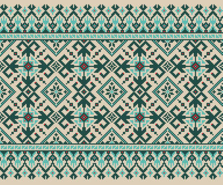 embroider: Vector illustration of ukrainian folk seamless pattern ornament  Ethnic ornament