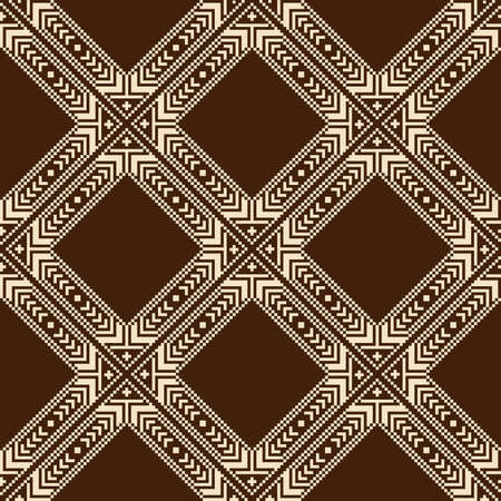 ukraine folk: Vector illustration of ukrainian folk seamless pattern ornament  Ethnic ornament