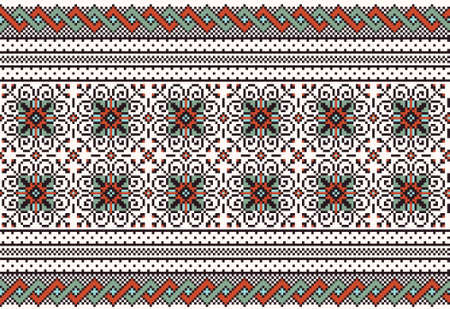 Vector illustration of ukrainian folk seamless pattern ornament  Ethnic ornament Vector
