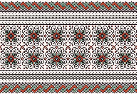 Vector illustration of ukrainian folk seamless pattern ornament  Ethnic ornament Vector