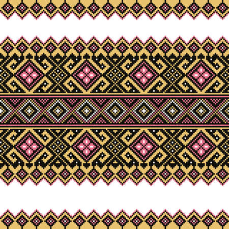rushnik: Vector illustration of ukrainian folk seamless pattern ornament  Ethnic ornament