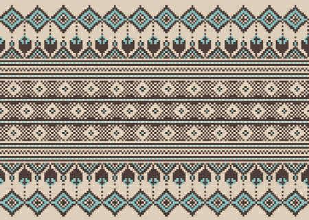punto cruz: Ilustración del vector del popular ucraniano ornamento patrón sin fisuras ornamento étnico