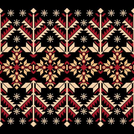 Vector illustratie van de Oekraïense volk naadloze patroon ornament Etnische ornament