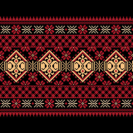 criss cross: Vector illustration of ukrainian folk seamless pattern ornament  Ethnic ornament