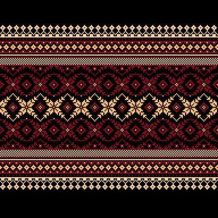 punto cruz: Ilustraci�n del vector del popular ucraniano patr�n sin fisuras ornamento ornamento �tnico