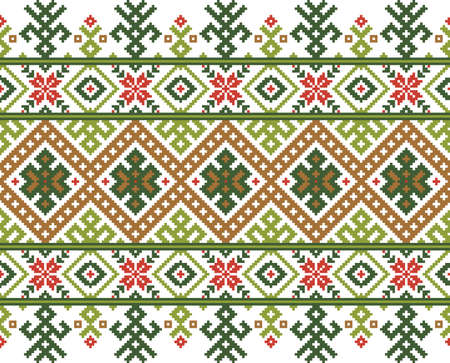 Vector illustration of ukrainian folk seamless pattern ornament  Ethnic ornament