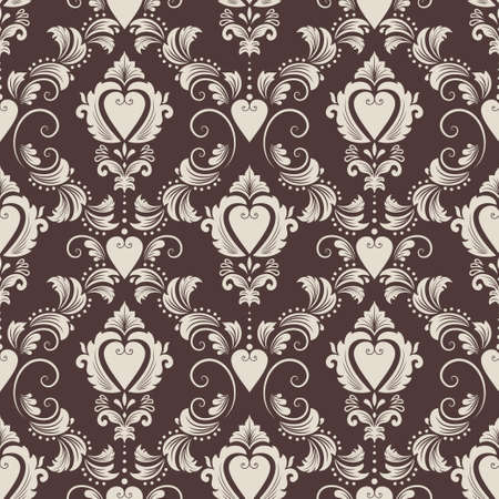 textured paper background: Vector damask seamless pattern background  Elegant luxury texture for wallpapers, backgrounds and page fill