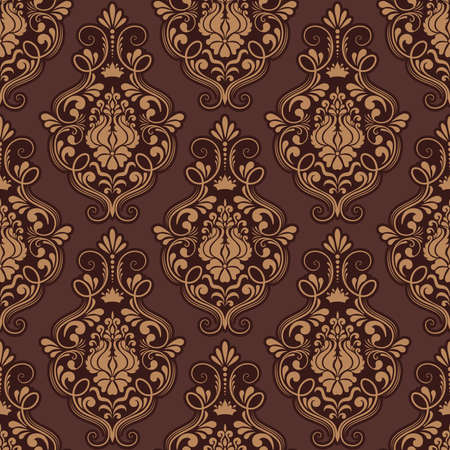 foliate: Vector damask seamless pattern background  Elegant luxury texture for wallpapers, backgrounds and page fill