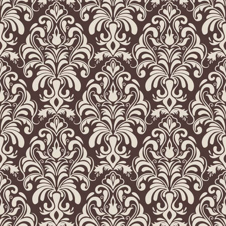damask pattern: Vector damask seamless pattern background  Elegant luxury texture for wallpapers, backgrounds and page fill