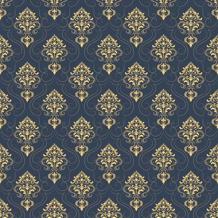 Vector Damask Seamless Pattern Background Elegant Luxury Texture Impressive Pattern Backgrounds