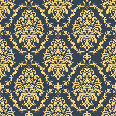 Vector damask seamless pattern background  Elegant luxury texture for wallpapers, backgrounds and page fill  Vector