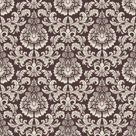 textured paper: Vector damask seamless pattern background  Elegant luxury texture for wallpapers, backgrounds and page fill