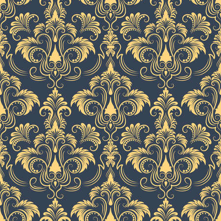 Vector damast naadloze patroon achtergrond Elegante luxe textuur voor achtergronden, achtergronden en pagina fill Stock Illustratie
